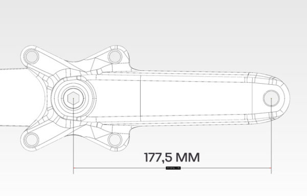 Pédaliers BMX race 177,5 mm