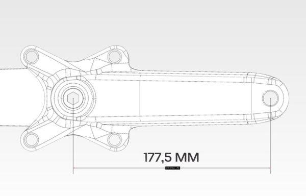 BMX crankset beringer bicycle 177,5 mm