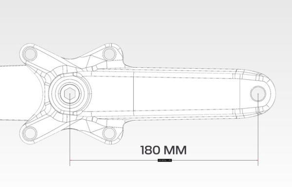 BMX crankset beringer bicycle 180 mm