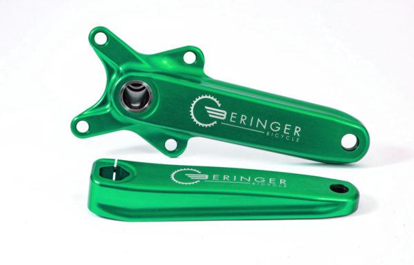 Pédalier BMX Race vert 177 mm gravure laser